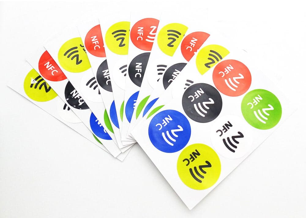 NTAG213 NFC tags op stickervel.